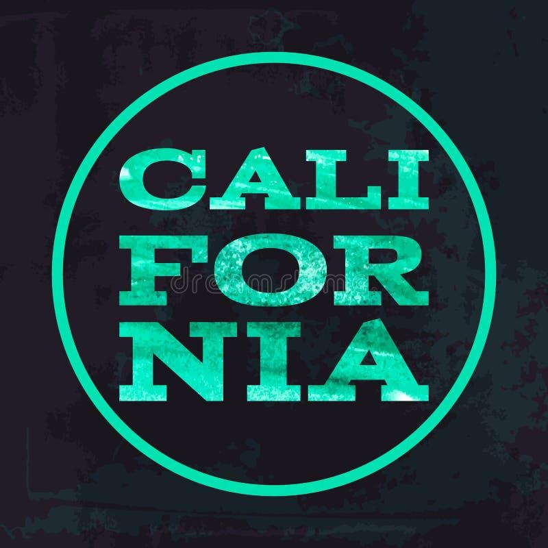 Vectores de los gráficos de la camiseta de la tipografía de la resaca de California libre illustration