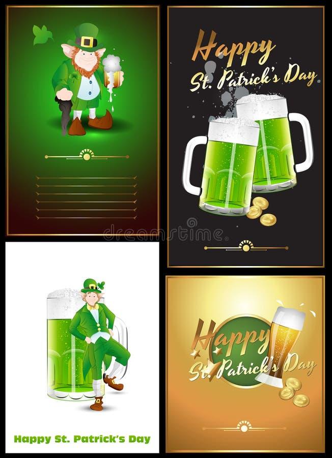Vectores de los saludos del día del St. Patrick libre illustration