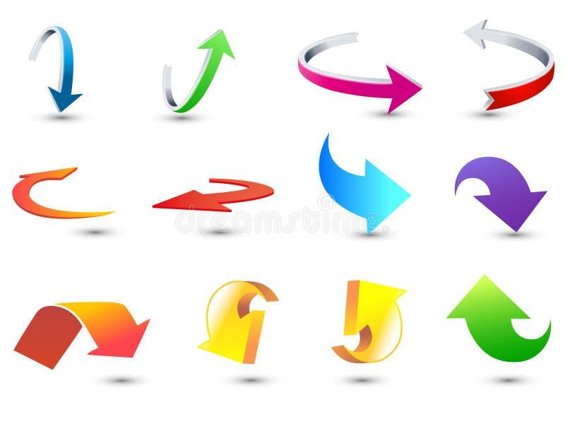 Vectores del icono de la flecha ilustración del vector