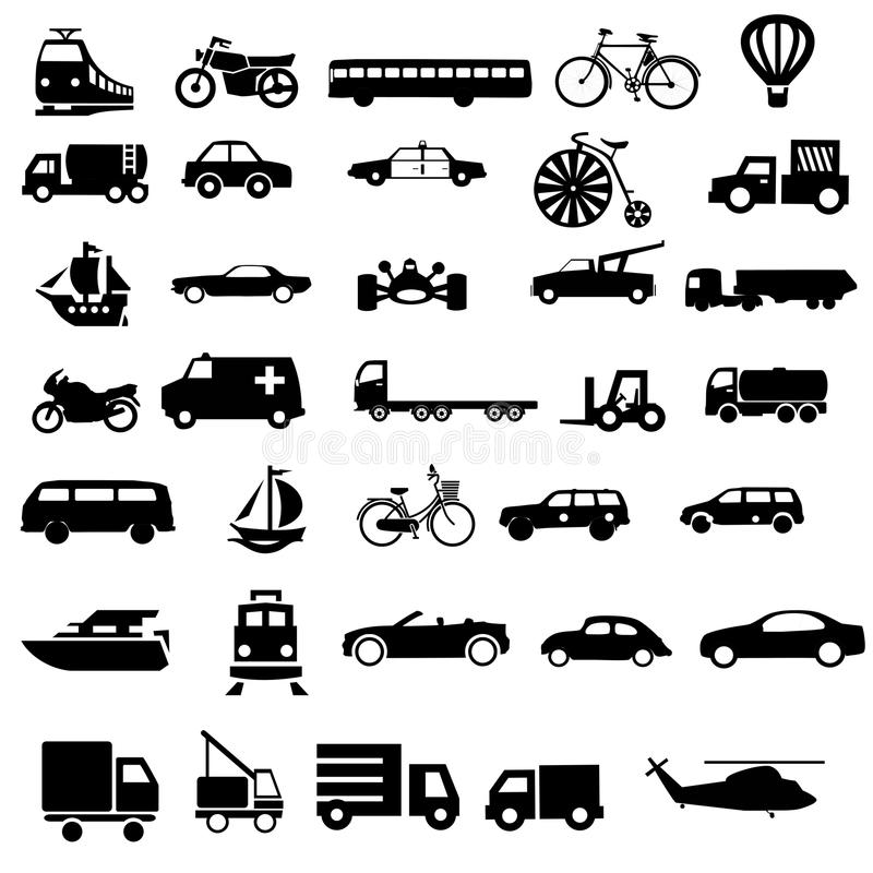Vectores del negro del transporte del vehículo ilustración del vector