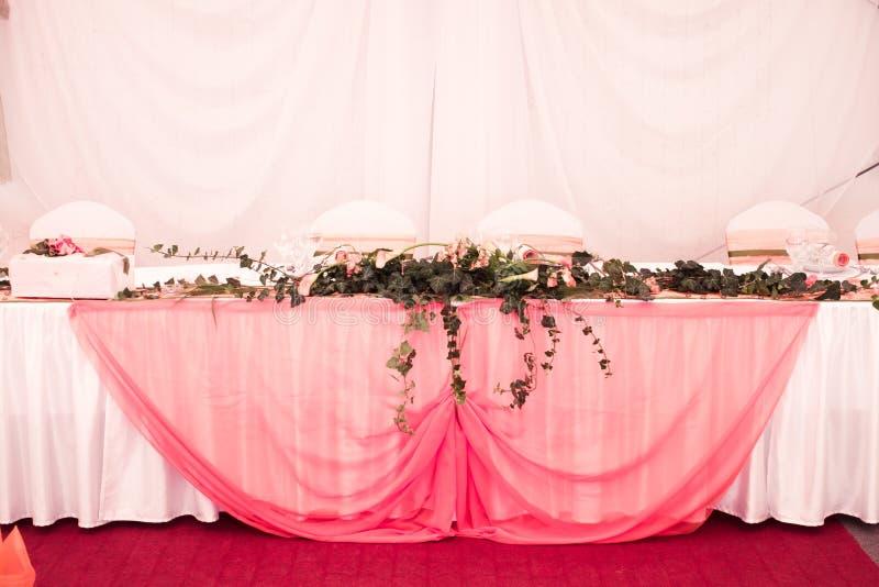 Vectores rosados de la boda fotos de archivo