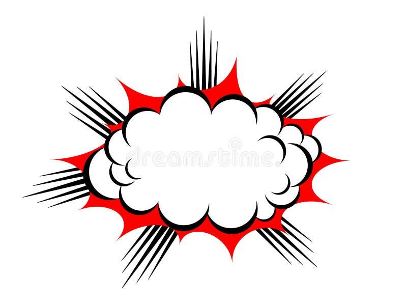 Vectorexplosiewolk stock illustratie