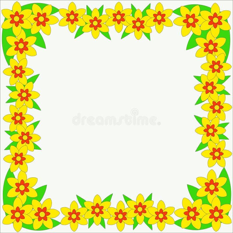 Vectorfotokader van bloemenornament voor ontwerp vector illustratie