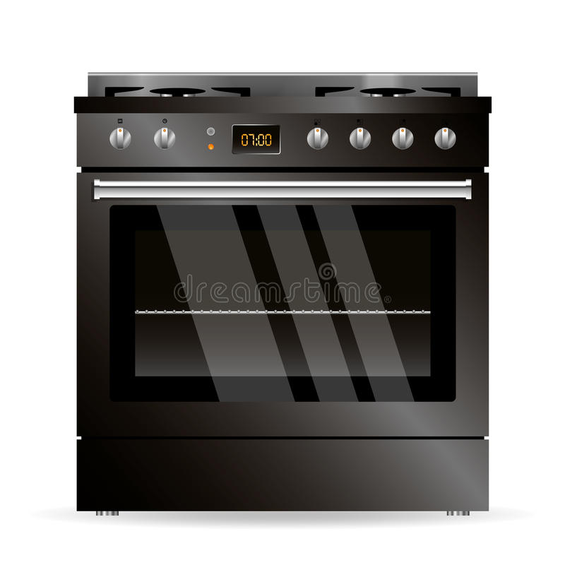 Vectorgasoven stock illustratie