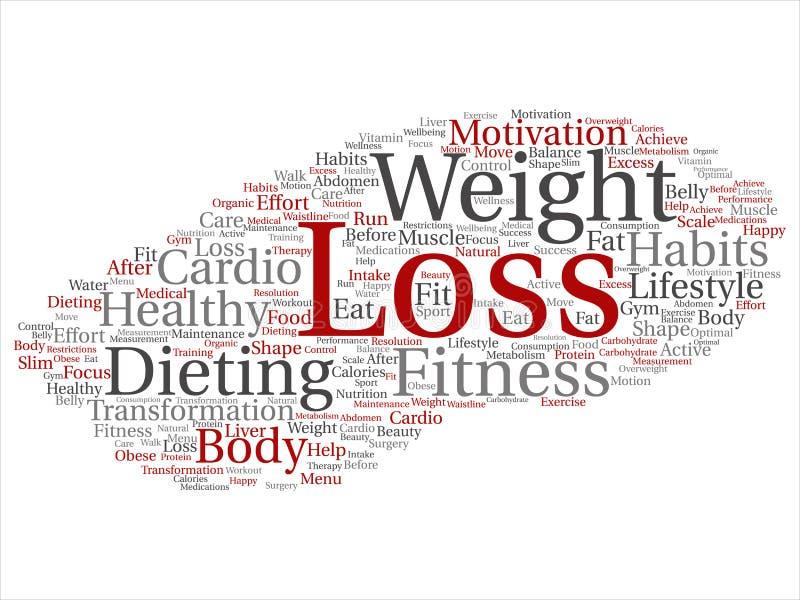 Vectorgewichtsverlies gezonde het op dieet zijn transformatie vector illustratie