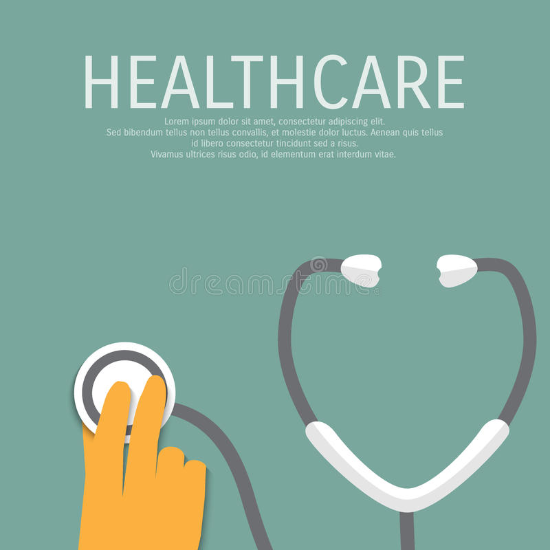 Vectorgezondheidszorg medische vlakke achtergrond stock illustratie