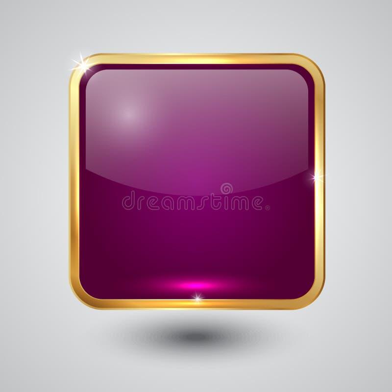 Vectorglas vierkante knoop met ronde hoeken en stock illustratie