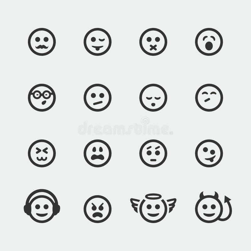 Vectorglimlach minipictogrammen #2 stock illustratie