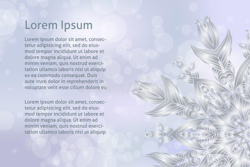 Vectorglittery steekt zilveren abstracte Kerstmisachtergrond voor kalender of greating kaart aan vector illustratie
