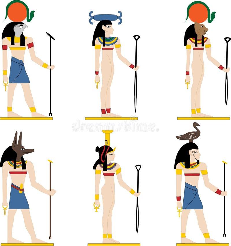 Vectorgoden van Egypte vector illustratie