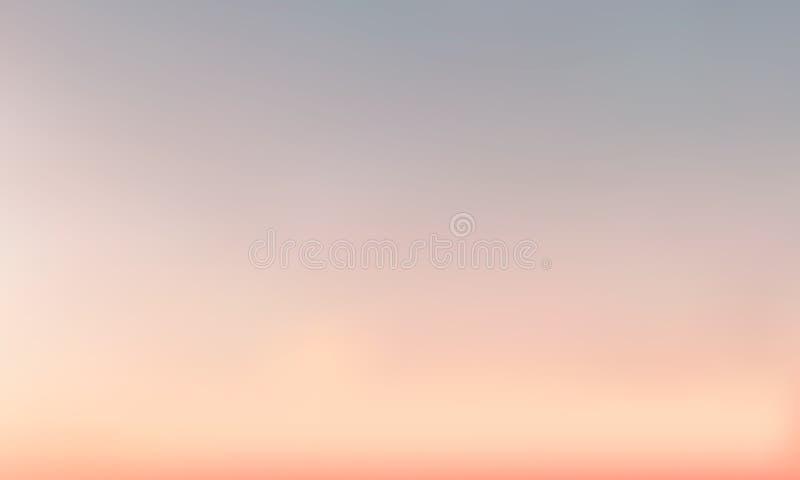 Vectorgradiënt vage achtergrond Natuurlijke kleur De kleur van de avondhemel vector illustratie