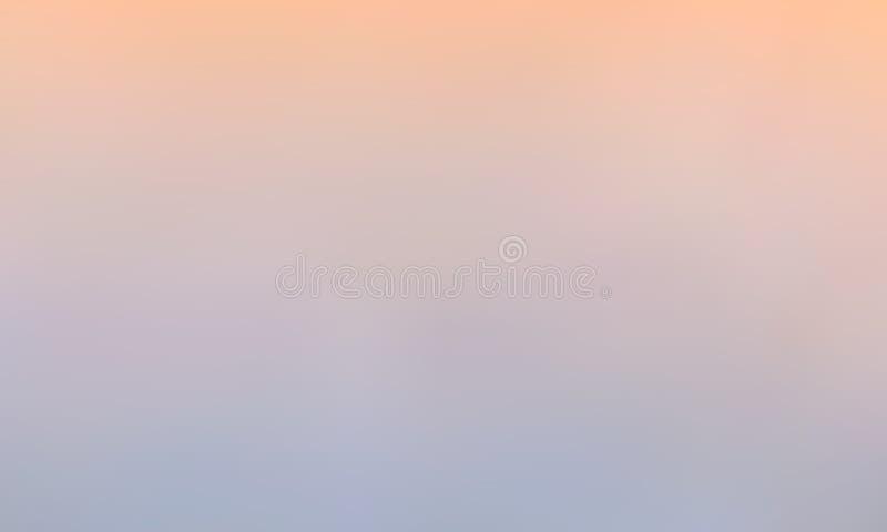 Vectorgradiënt vage achtergrond Natuurlijke kleur De kleur van de avondhemel stock illustratie