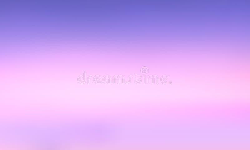 Vectorgradiënt vage achtergrond Natuurlijke kleur Purpere hemel vector illustratie