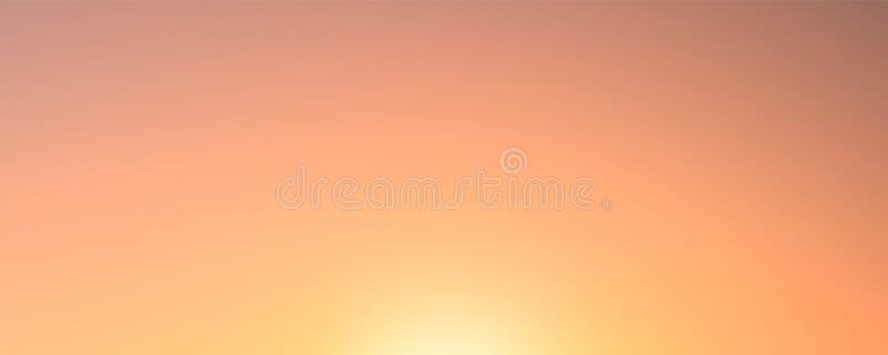 Vectorgradiëntachtergrond, natuurlijke kleuren, zonsondergang en dageraad royalty-vrije illustratie