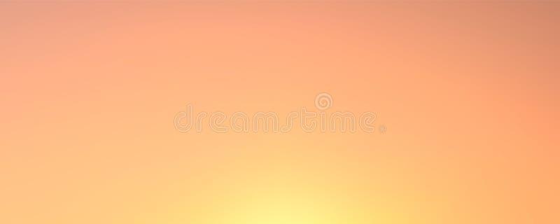 Vectorgradiëntachtergrond, natuurlijke kleuren, zonsondergang en dageraad stock illustratie