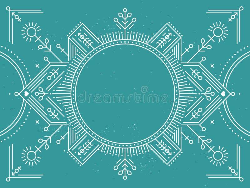 Vectorgrens met geometrisch en abstracte lijn royalty-vrije illustratie