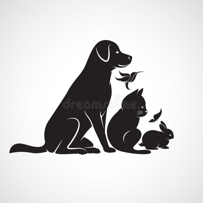 Vectorgroep huisdieren vector illustratie