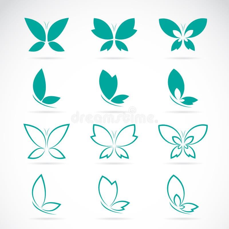 Vectorgroep vlinder royalty-vrije illustratie