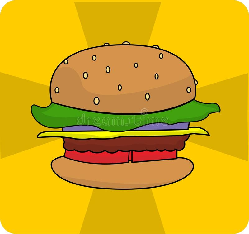 Vectorhamburgerembleem stock fotografie