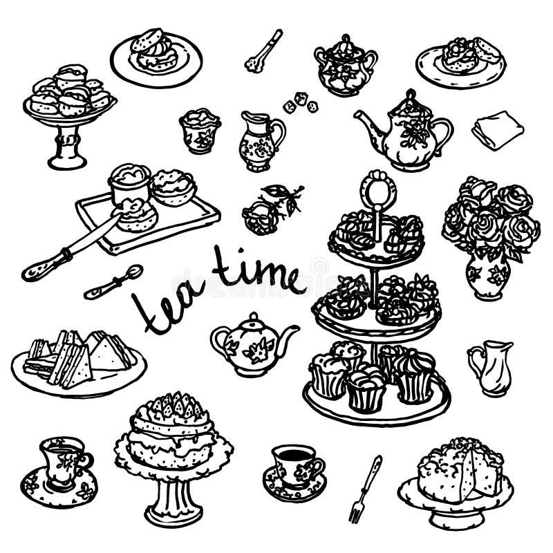 Vectorhand getrokken illustratie van keukengerei royalty-vrije illustratie