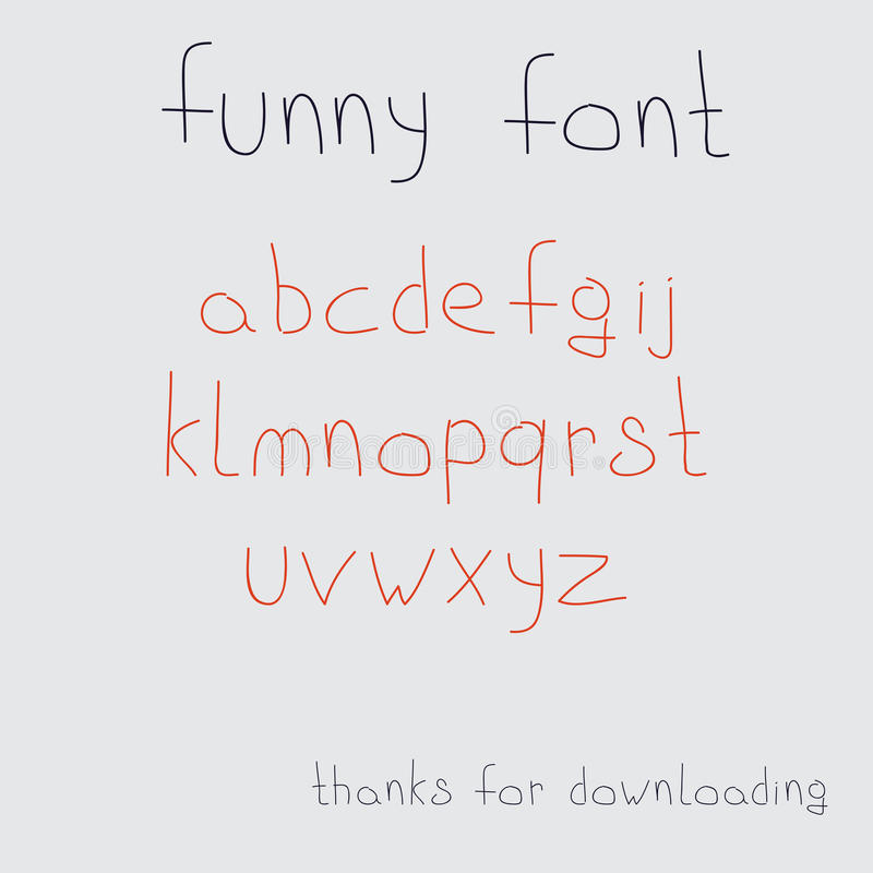 Vectorhand getrokken kalligrafische doopvont royalty-vrije illustratie