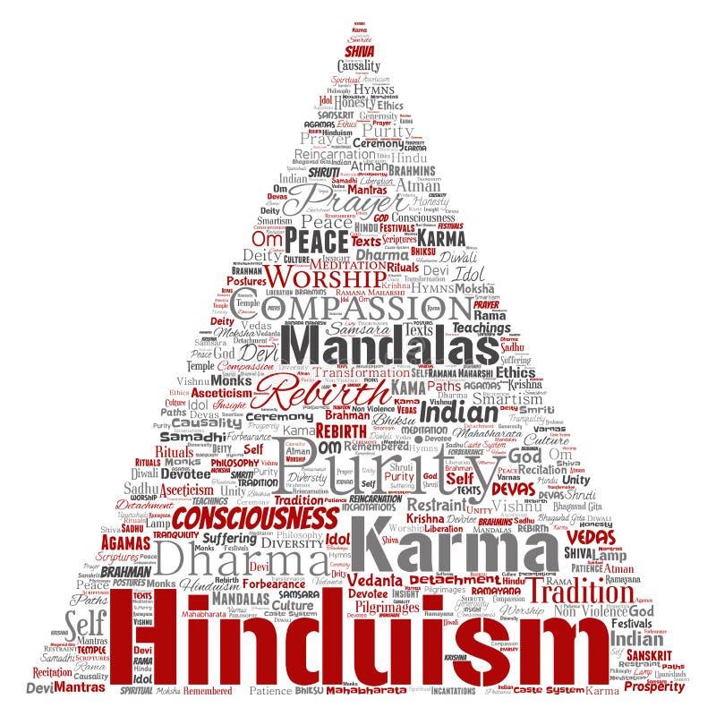 Vectorhinduism, shiva, rama, de pijl van de yogadriehoek stock illustratie