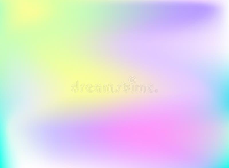 Vectorholografieachtergrond, het Glanzen Regenboog Gekleurde Achtergrond stock illustratie