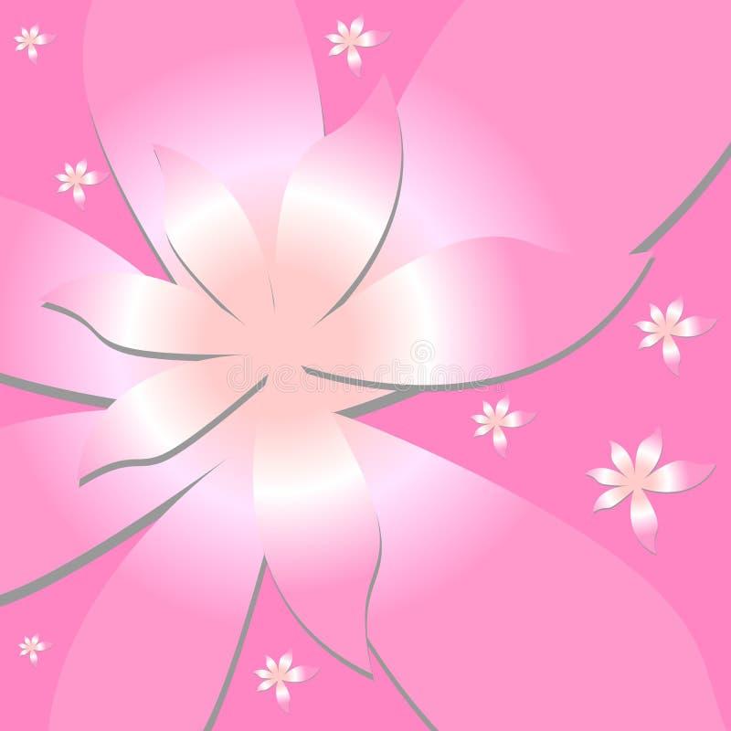 vectorial blommamodell stock illustrationer