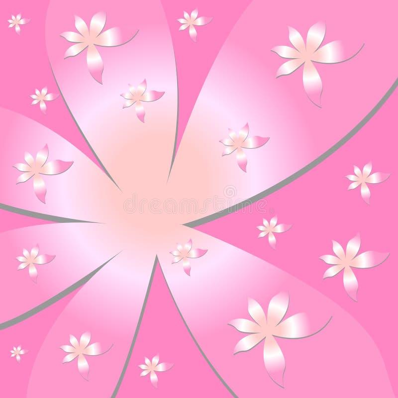 vectorial blommamodell royaltyfri illustrationer
