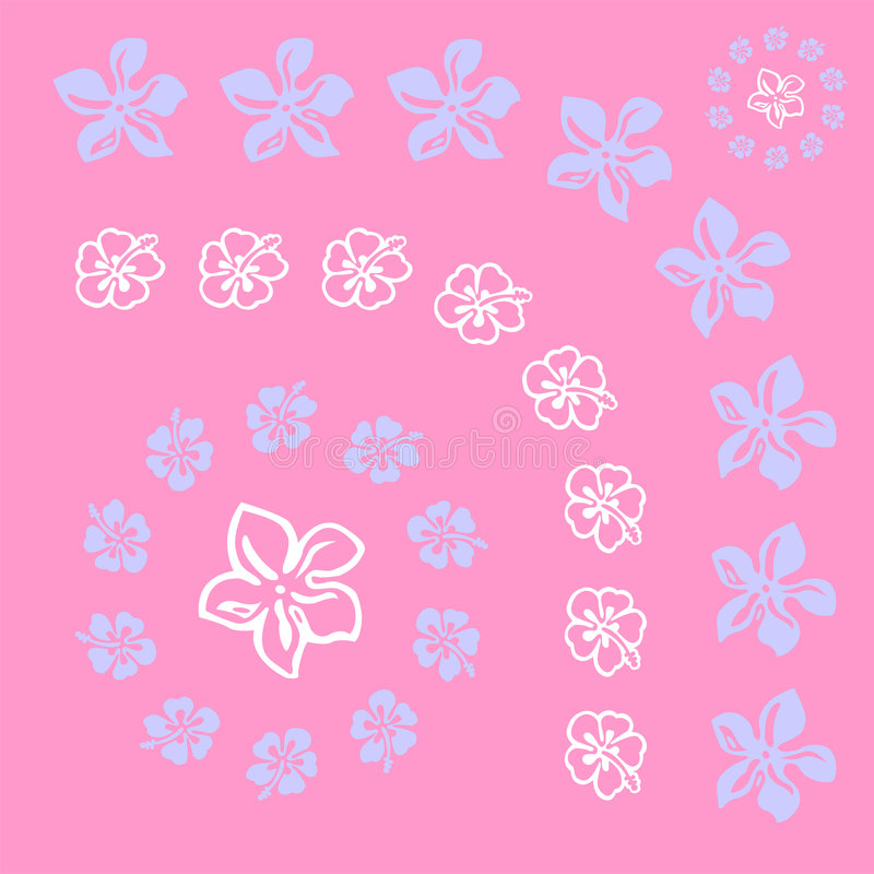 Vectorial Flower Pattern Royalty Free Stock Photography
