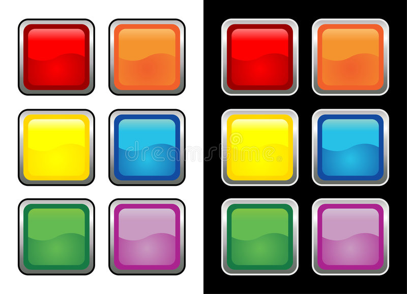 Download Vectorial glass buttons stock vector. Illustration of yellow - 1878350