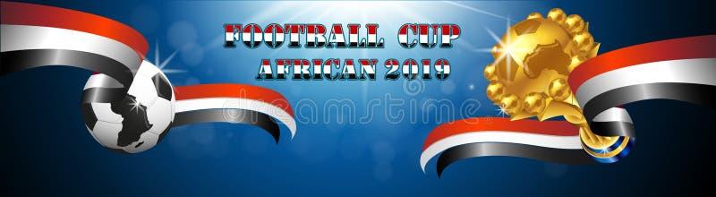 Vectorielles 2019 de fond d'Africain de tasse du football illustration de vecteur