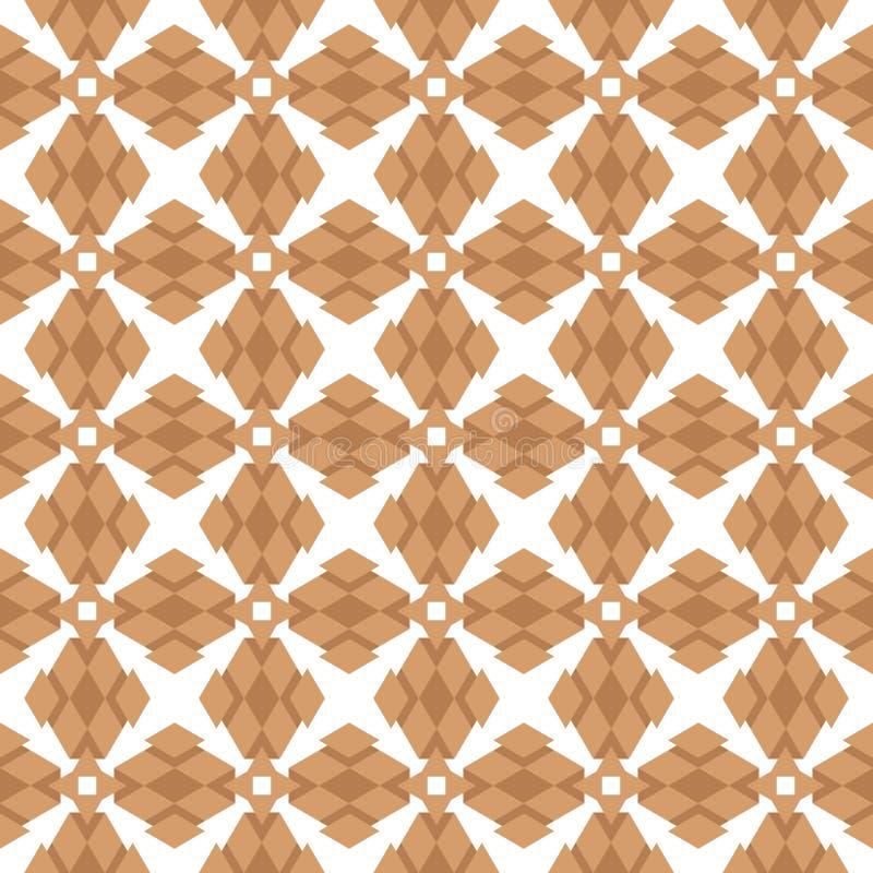 Vectorillustratie abstract ornament van gelijkzijdige driehoeken van bruine tinten op een witte achtergrond stock illustratie