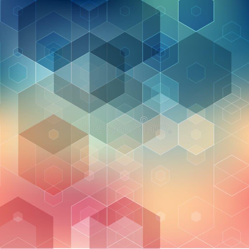 Vectorillustratie Abstracte geometrische achtergrond stock illustratie