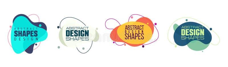 Vectorillustratie abstracte vorm kleurrijke creatieve kaders voor de reclame van tekst, stock foto's