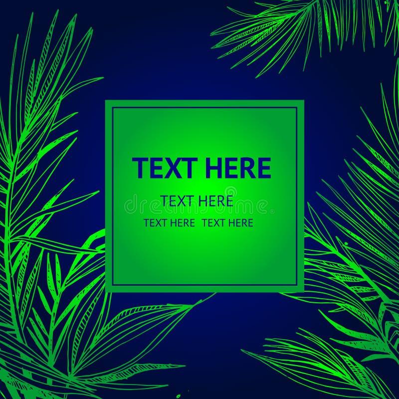 Vectorillustratie als achtergrond van actuele palmen stock illustratie