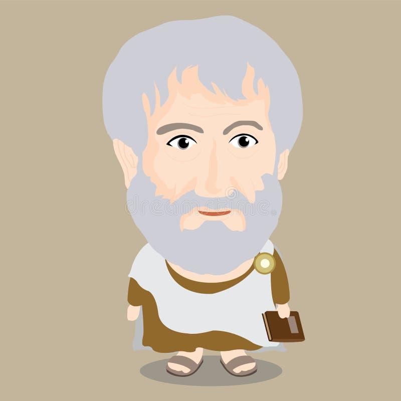 Vectorillustratie - Aristoteles stock afbeelding