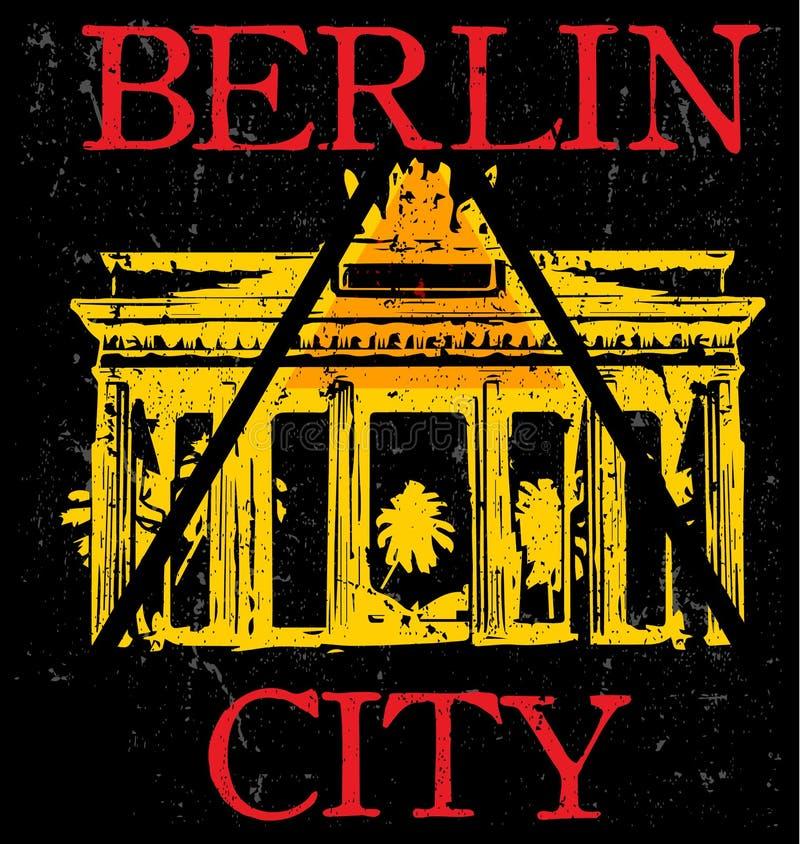 Vectorillustratie Berlijn, Duitsland, modieus grafiekontwerp voor t vector illustratie