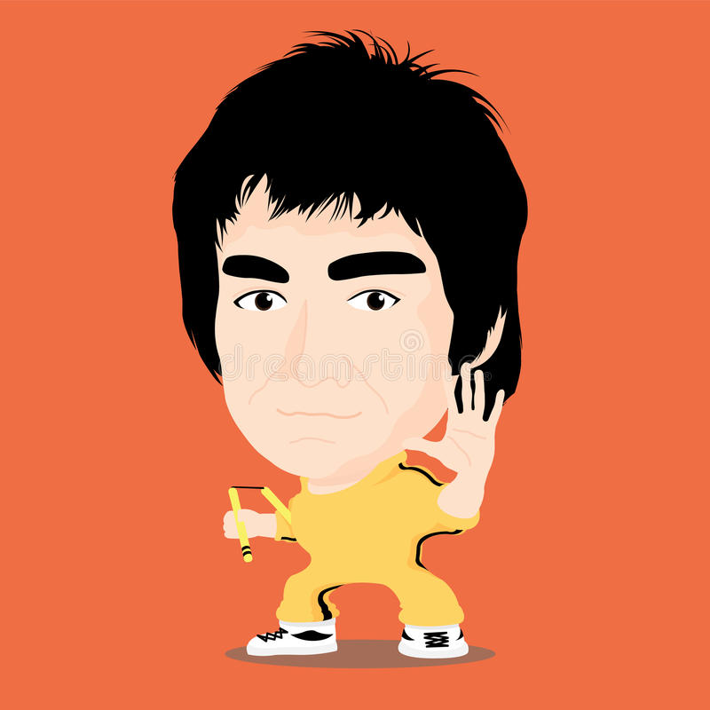 Vectorillustratie - Bruce Lee royalty-vrije stock foto's