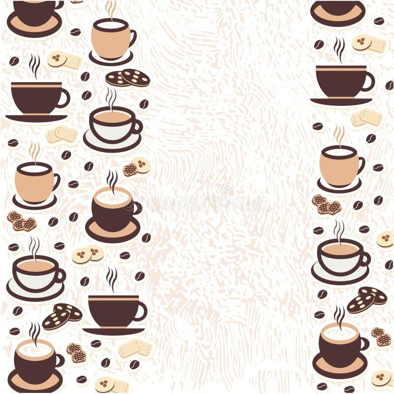 Vectorillustratie, een kop van cappuccinokoffie, latte, espresso stock illustratie