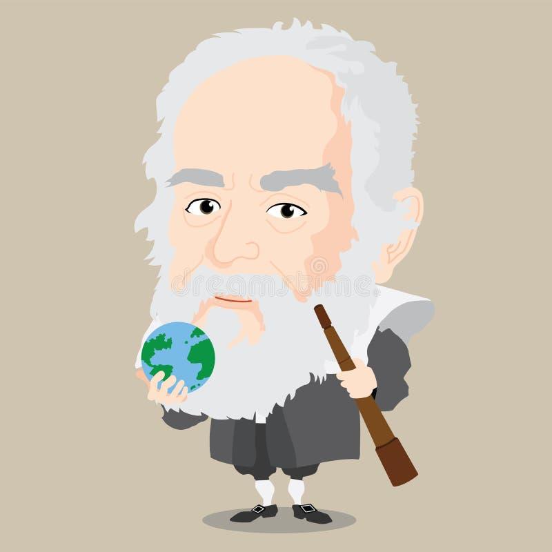 Vectorillustratie - Galileo stock fotografie