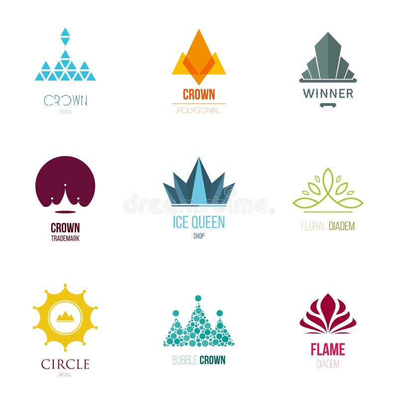 Vectorillustratie, grafische elementen editable voor ontwerp met kroon stock illustratie