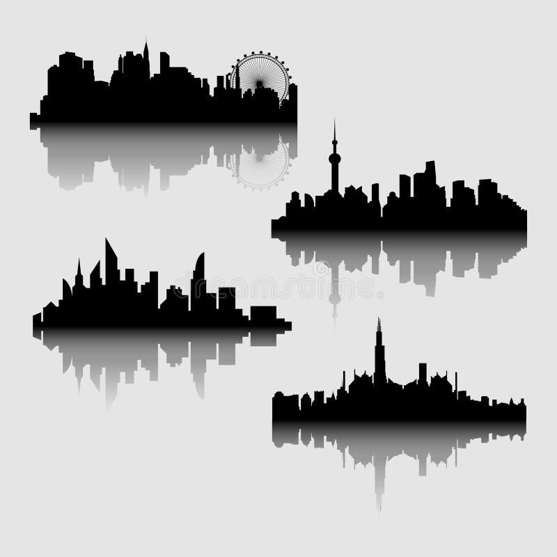 Vectorillustratie - het silhouet stock illustratie