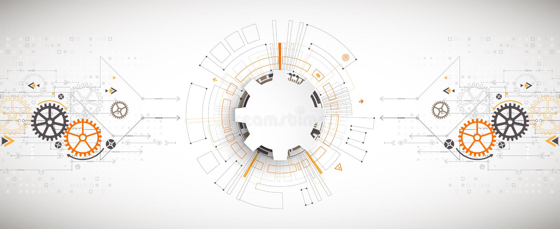 Vectorillustratie, Hi-tech digitale technologie en techniek royalty-vrije illustratie