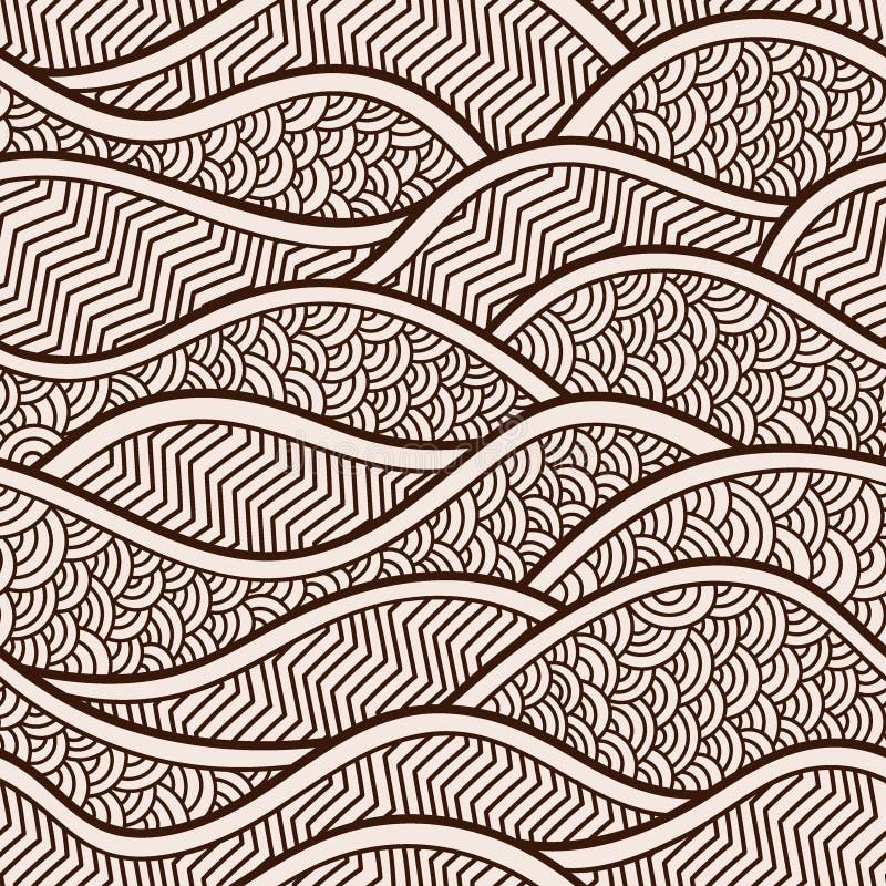 Vectorillustratie met abstracte golven of duinen Grafisch ornament vector illustratie