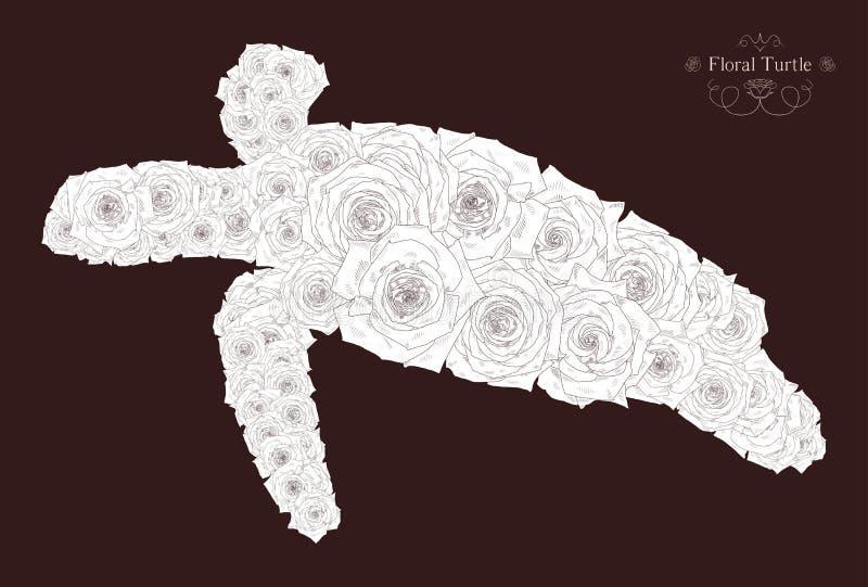 Vectorillustratie met abstracte schildpad royalty-vrije illustratie