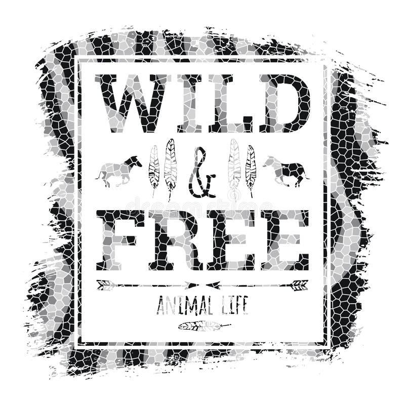 Vectorillustratie met de slogan voor t-shirts royalty-vrije illustratie