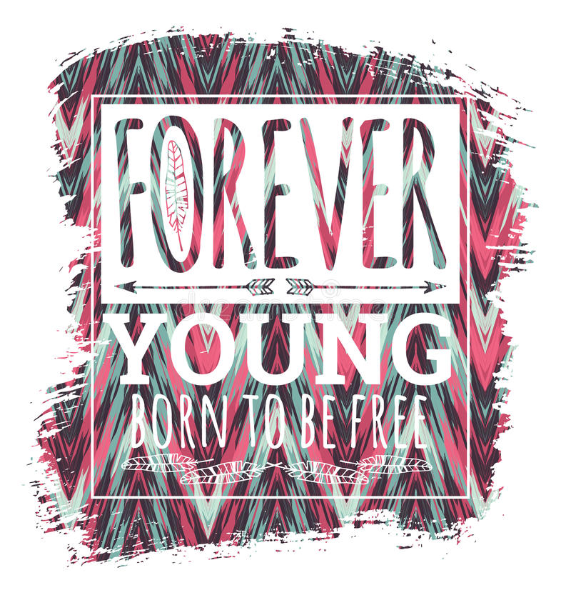 Vectorillustratie met de slogan voor t-shirts vector illustratie