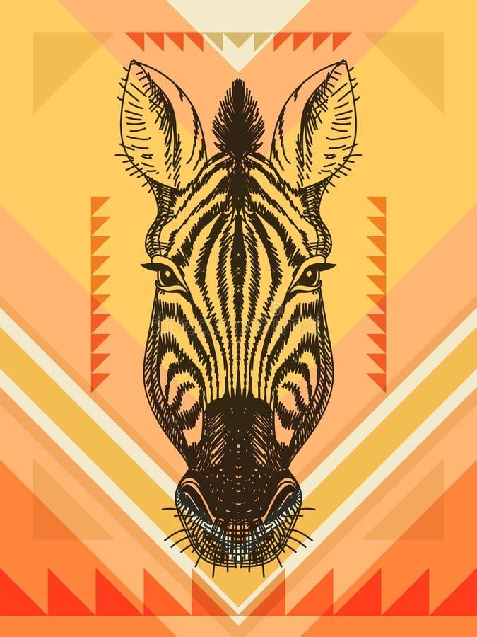 Vectorillustratie met gestreept hoofd vector illustratie