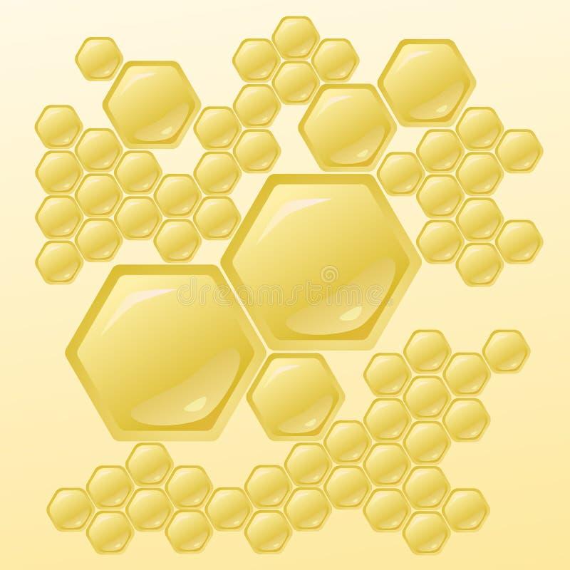 Vectorillustratie met Honingraten vector illustratie